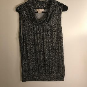 Michael Kors Sleeveless Blouse Cowl Neck